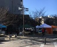 桜城址公園のマーケット