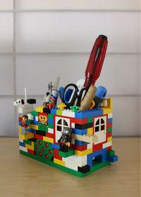 LEGOでペン&道具スタンド制作 ~LEGO~ 実用編です・毎日使用してます。