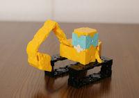 ショベルカー[shovelcar]  ~LaQ~ はたらく乗り物編 LEGOの人形乗せてみました。 2017/04/08 20:38:34