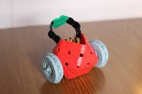 苺(いちご)カー ~LaQ~ 乗り物編 LEGO乗せてみました。 2017/04/13 18:17:17