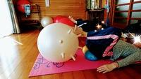 【スタジオレッスンについてご紹介します♪】大小のボールを使い、リラックスしながら調整です!