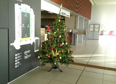 スカイホール受付 クリスマスツリー
