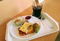 カメリア赤池店さんでモーニング、日替りパンは大好きな抹茶ミニクロワッサン♪