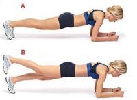 体幹トレーニングの定番プランク、ルーシーダットン流にアレンジです