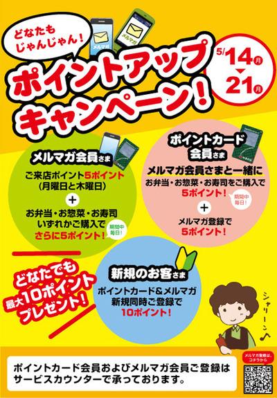 やまのぶ本店メルマガポイントアップキャンペーン!
